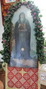Храмовая икона с частицей мощей прп. Нила Столобенского